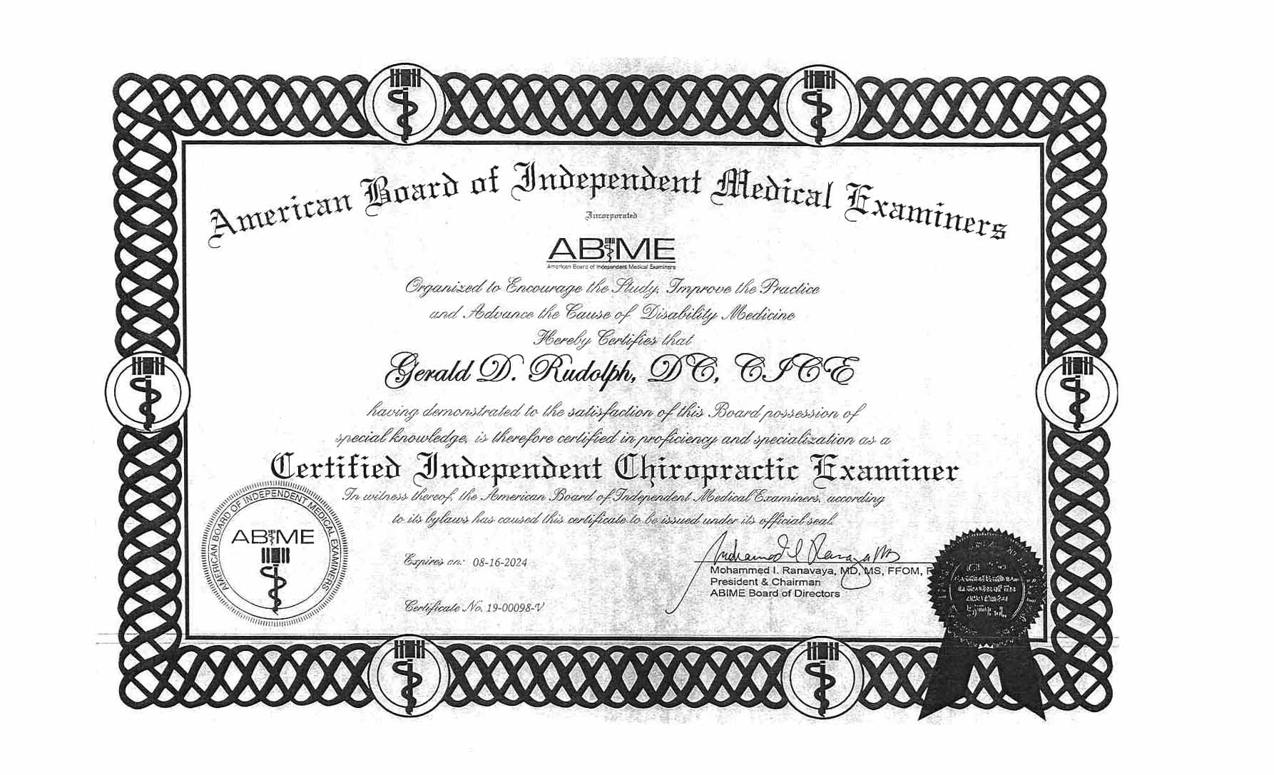 ABIME Certification